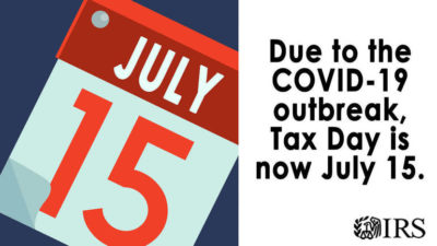 C19 UPDATE: Tax Filing Deadline Extended to July 15
